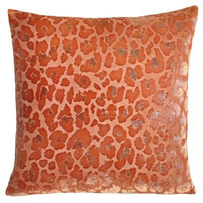 Leopard Velvet Throw Pillow Color: Mango