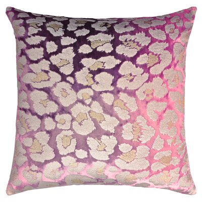 Leopard Metallic Velvet Pillow Color: Grape