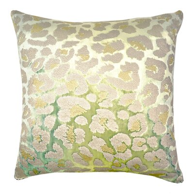 Leopard Metallic Velvet Throw Pillow Color: Sour Apple