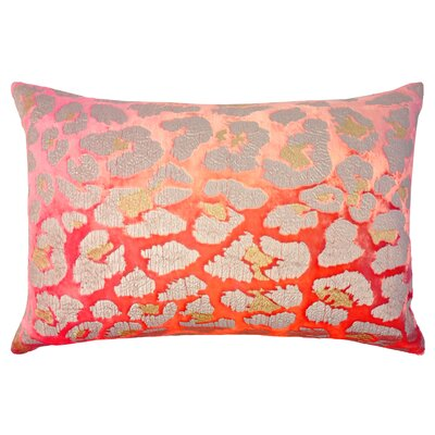 Leopard Metallic Velvet Lumbar Pillow