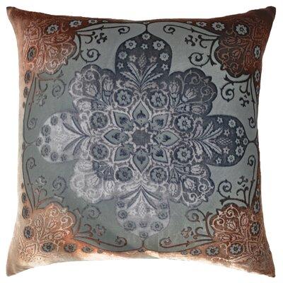 Moroccan Velvet Throw Pillow Color: Gun Metal