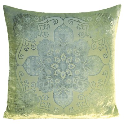Moroccan Velvet Throw Pillow Color: Ice