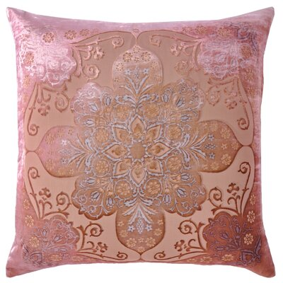Moroccan Velvet Throw Pillow Color: Pink Beige