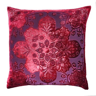 Moroccan Velvet Throw Pillow Color: Raspberry
