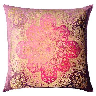 Moroccan Metallic Velvet Throw Pillow Color: Grape