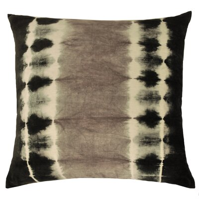 Shibori Cotton Throw Pillow Color: Charcoal