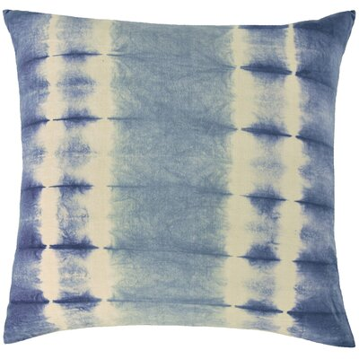 Shibori Cotton Throw Pillow Color: Cornflower