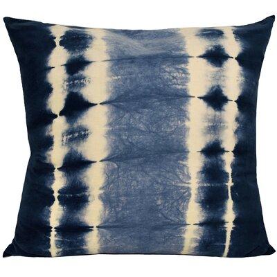 Shibori Cotton Throw Pillow Color: Indigo