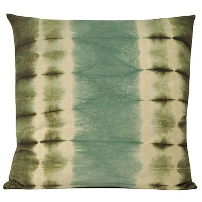 Shibori Cotton Throw Pillow Color: Vetiver