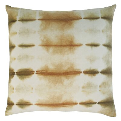 Shibori Cotton Throw Pillow Color: Ochre