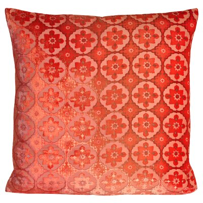 Small Moroccan Velvet Pillow Color: Coral, Size: 18 H x 18 W x 4 D