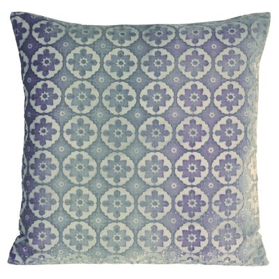 Small Moroccan Metallic Velvet Throw Pillow Color: Cornflower