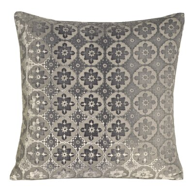 Small Moroccan Velvet Pillow Color: Silver, Size: 18 H x 18 W x 4 D
