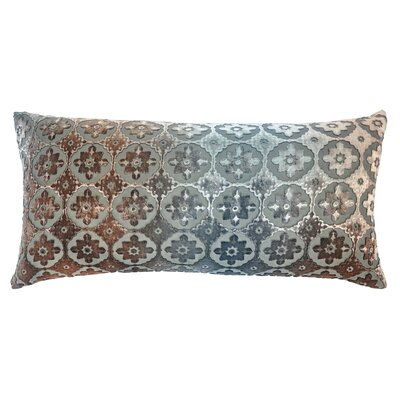 Small Moroccan Metallic Velvet Lumbar Pillow