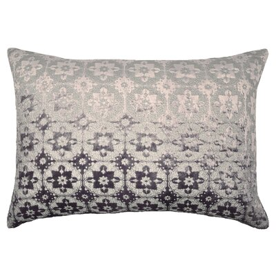 Small Moroccan Metallic Velvet Lumbar Pillow Color: Violet Silver