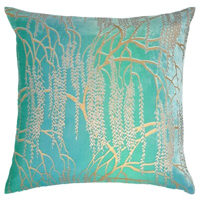 Willow Metallic Velvet Throw Pillow Color: Cotton Candy Blue