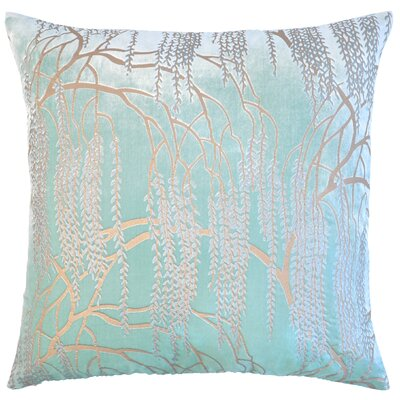 Willow Metallic Velvet Throw Pillow Color: Mint