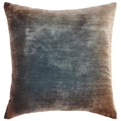 Ombre Velvet Throw Pillow Color: Gunmetal