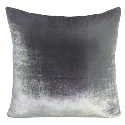 Ombre Velvet Throw Pillow Color: Silver