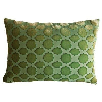 Mod Fretwork Velvet Lumbar Pillow Color: Grass