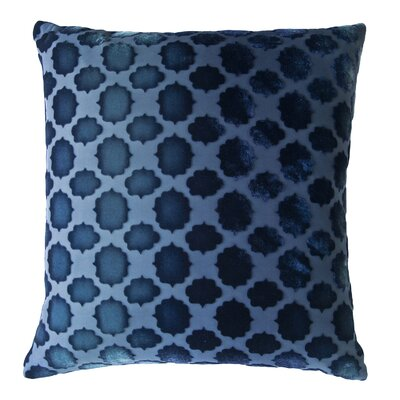 Mod Fretwork Velvet Throw Pillow Color: Shark