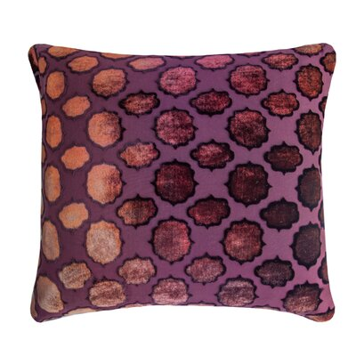 Mod Fretwork Velvet Throw Pillow Color: Wildberry