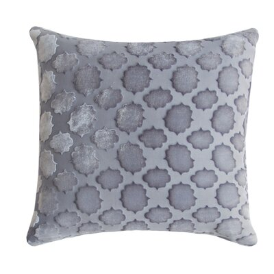 Mod Fretwork Velvet Throw Pillow Color: Silver