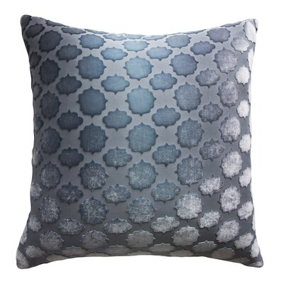 Mod Fretwork Velvet Throw Pillow Color: Dusk