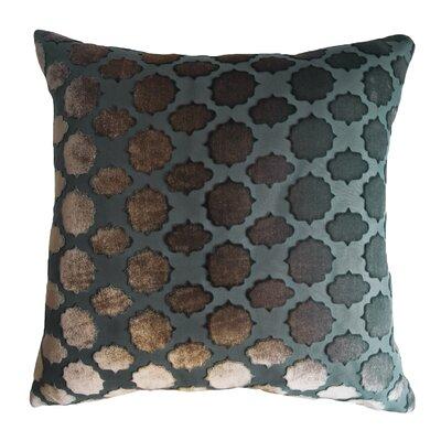 Mod Fretwork Velvet Throw Pillow Color: Gunmetal