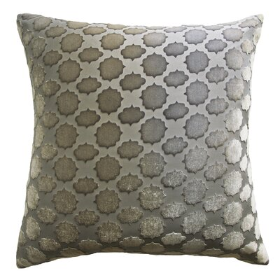 Mod Fretwork Velvet Throw Pillow Color: Nickel