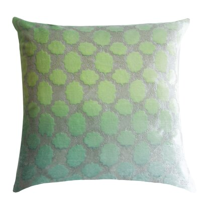 Mod Fretwork Velvet Throw Pillow Color: Mint, Size: 18 x 18