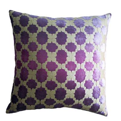 Mod Fretwork Velvet Throw Pillow Color: Grape