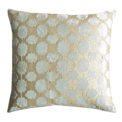 Mod Fretwork Velvet Throw Pillow Color: Mint
