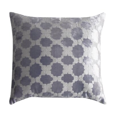 Mod Fretwork Velvet Throw Pillow Color: Violet/Silver