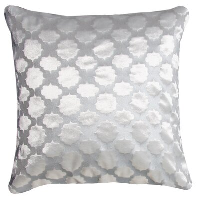 Mod Fretwork Velvet Throw Pillow Color: White