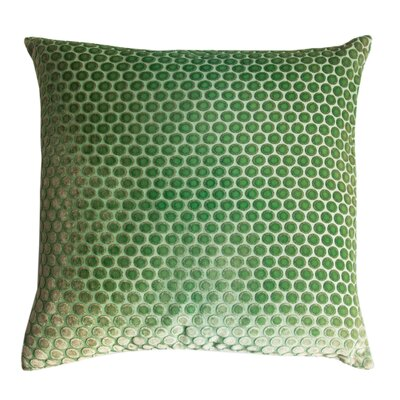 Dots Velvet Pillow Color: Grass, Size: 18 H x 18 W x 4 D