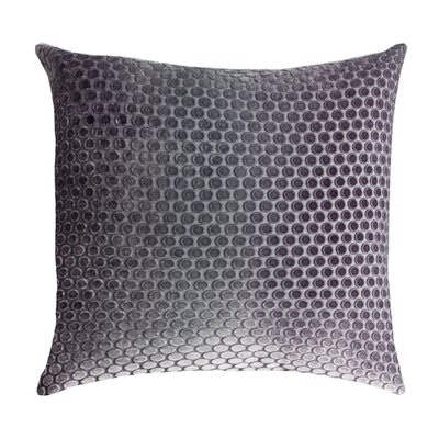 Dots Velvet Pillow Color: Aubergine, Size: 22 H x 22 W x 3 D