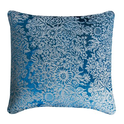 Garland Metallic Velvet Pillow Color: Cobalt Black