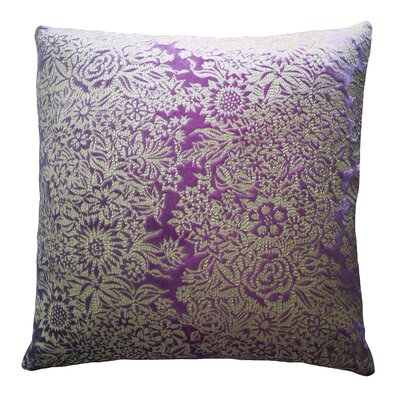 Garland Metallic Velvet Pillow Color: Grape