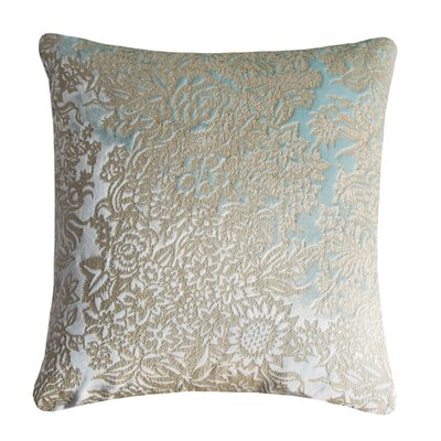 Garland Metallic Velvet Throw Pillow Color: Mint