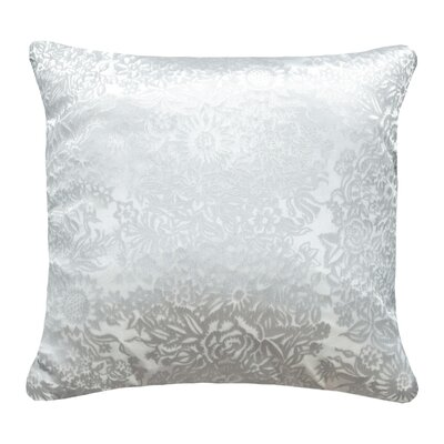 Garland Metallic Velvet Throw Pillow Color: White