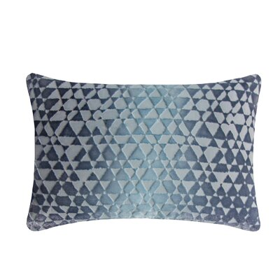 Triangles Velvet Lumbar Pillow Color: Dusk