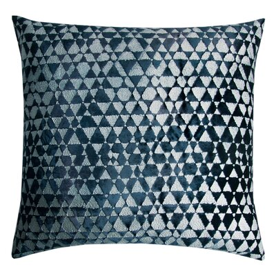 Triangles Velvet Throw Pillow Color: Silver/Black, Size: 18 x 18