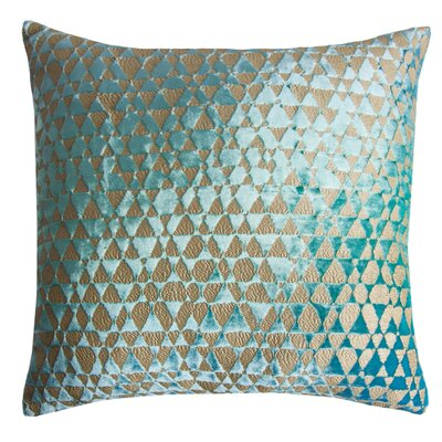 Triangles Velvet Throw Pillow Color: Cotton Candy Blue, Size: 18 x 18