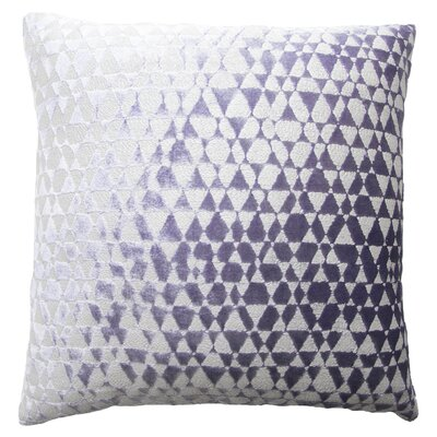 Triangles Metallic Velvet Throw Pillow Color: Violet/Silver
