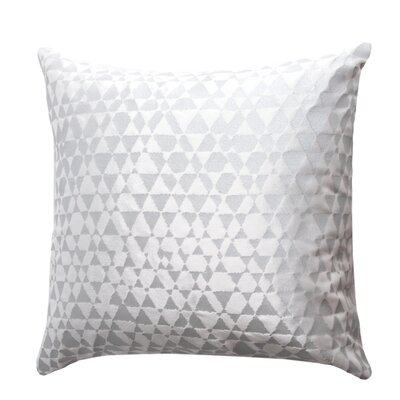 Triangles Velvet Throw Pillow Color: White, Size: 18 x 18