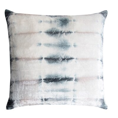 Rorschach Velvet Throw Pillow Color: Opal, Size: 18 H x 18 W