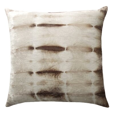 Rorschach Velvet Throw Pillow Color: Cream, Size: 18 H x 18 W