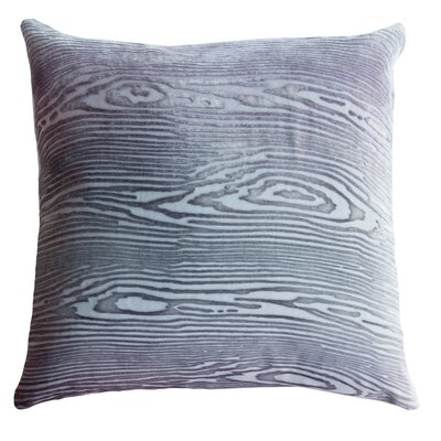 Woodgrain Velvet Throw Pillow Color: Aubergine, Size: 18 H x 18 W x 4 D