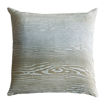Woodgrain Velvet Throw Pillow Color: Nickel, Size: 18 H x 18 W x 4 D